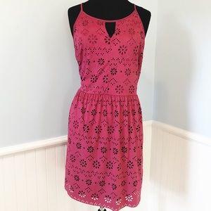 Lauren Conrad Berry Laser Cut Sleeveless Dress